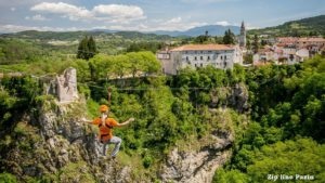 Zip line in Pazin